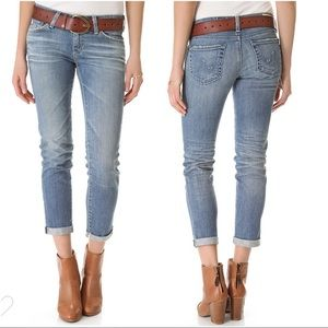 AG Stilt Cigarette Roll Up Cuff Slim Jeans